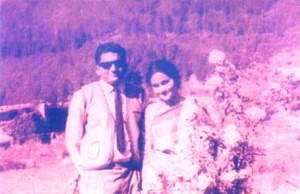 Indira Goswami with Husband
