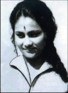 Young Indira Goswami