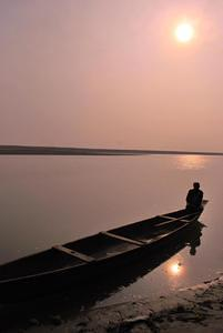 Just before sunset at Brahmaputra - Taken in Ganesh Ghaat, Tezpur