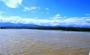 Dikrong River - hills of Arunachal in the back drop