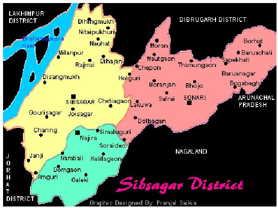 Map of Sibsagar